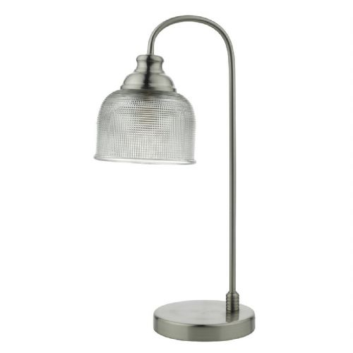 Hector Table Lamp Satin Nickel complete with Shade (Class 2 Double Insulated) BXHEC4238-17